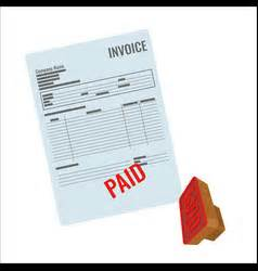 Unsettled Invoice Letter Past Due Rubber St Royalty Free Vector Image