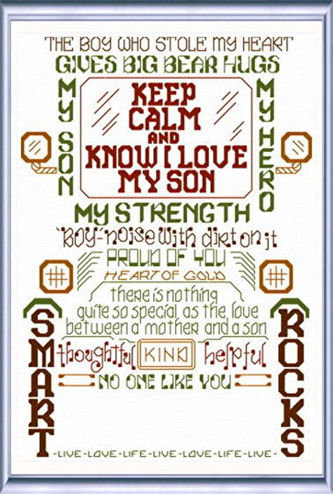 cross stitch pattern for words let s love our sons cross stitch pattern words