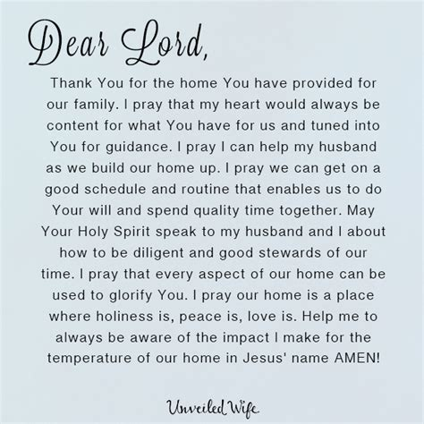 build my home prayer building a home