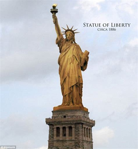 statue of liberty copper color liberty enlightening the world more popularly known as