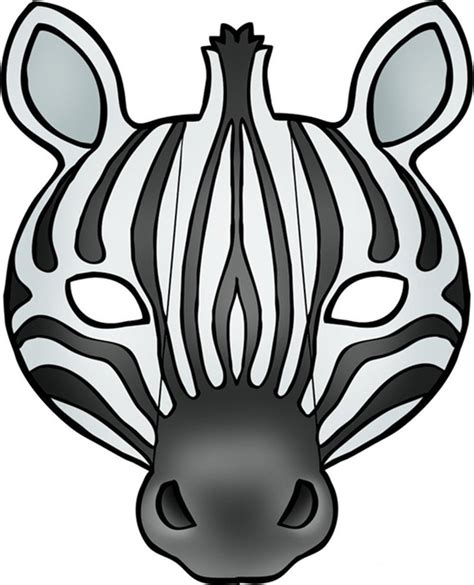 printable animal masks zebra 64 free kids face masks templates for halloween to print