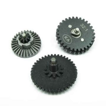 King Arms High Torque Helical Steel Gear Set For V2v3 Aeg king arms normal torque flat gears set