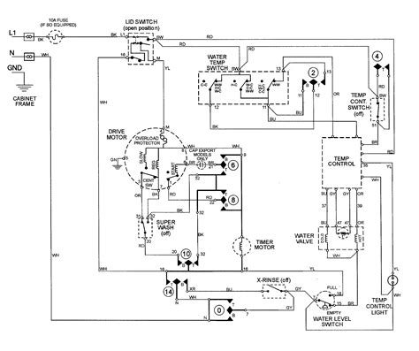 wiring diagram washing machine motor k