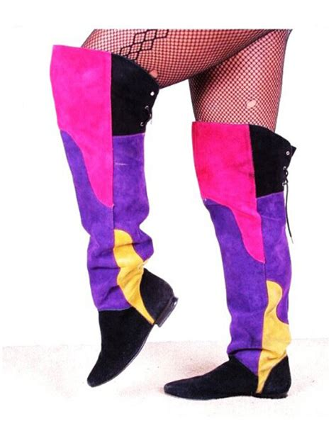 colored thigh high boots yu boots