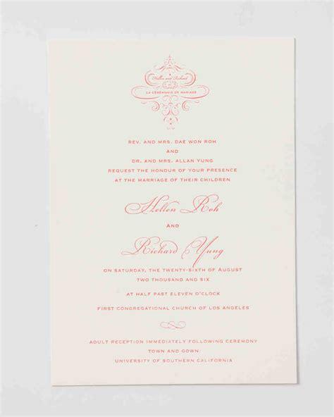 lines for wedding invitations 9 host line scenarios to make wording your wedding invitations simple martha stewart