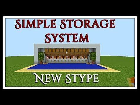 minecraft tutorial simple dispenser storage system