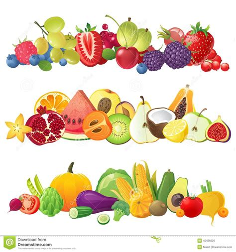 fruits and vegetables clipart fruit and vegetable borders clip 101 clip