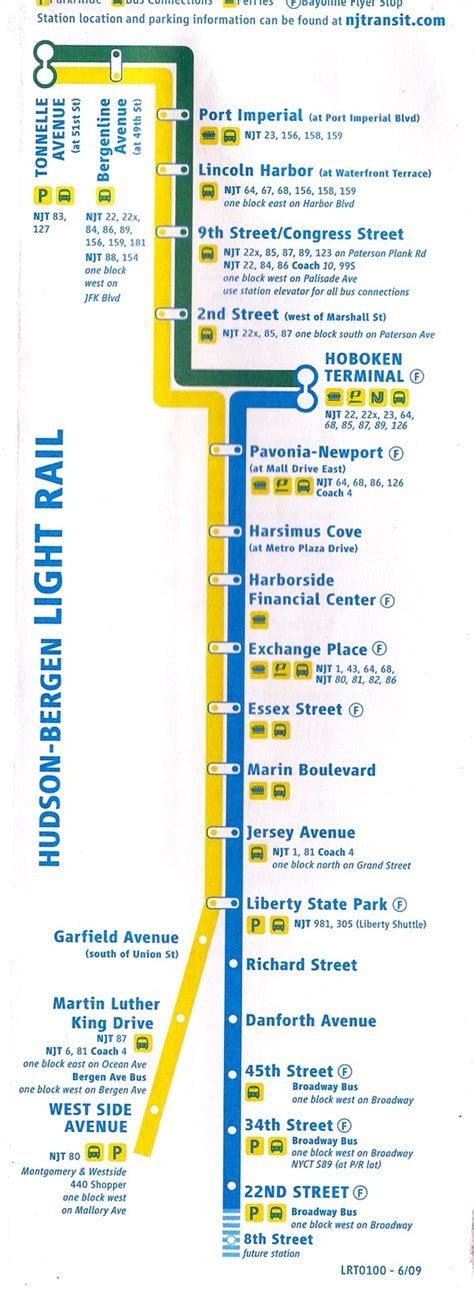 Nj Light Rail Schedule by Hudson Bergen Light Rail Map Flickr Photo
