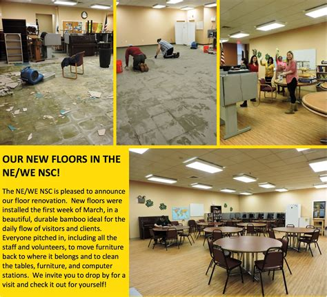 end west end abcd center gets new floors and big