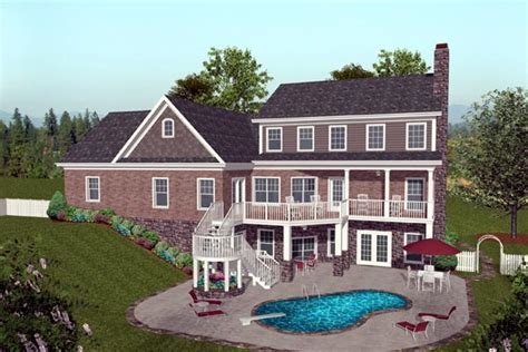 hillside home plans craftsman hillside home plan family home plans