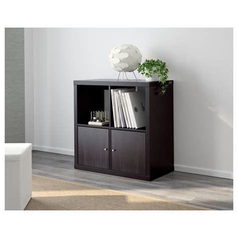 libreria kallax kallax shelving unit black brown 77x77 cm ikea