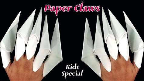 Origami Finger Claws - how to make origami claws paper claws paper fingers