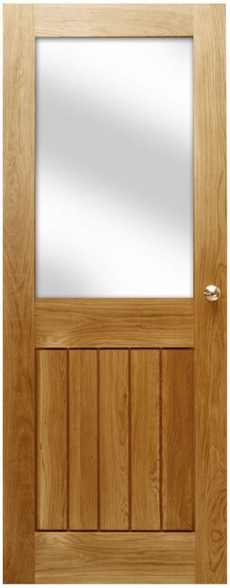 Half Glazed Exterior Doors Mexicano Contemporary Solid Oak Door Half Glazed