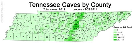county map of tennessee tn caves per county 2011also see tn sinkholes