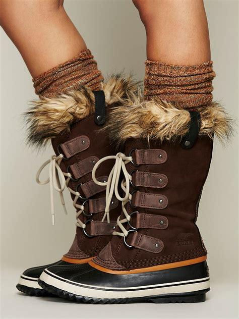 joan of arctic boot lyst free joan of arctic boot in brown