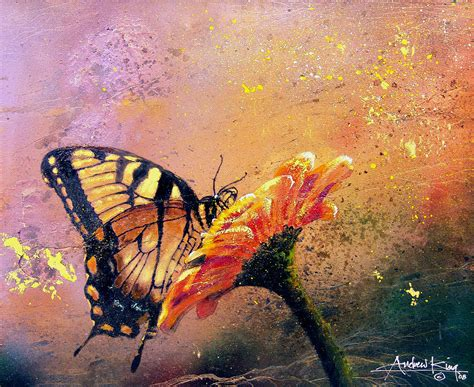 painting butterfly butterfly by andrew king