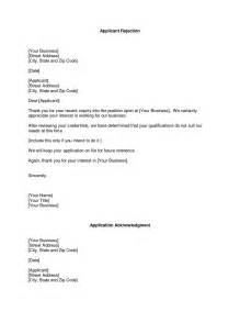 rejection letter template business rejection letter the rejection letter format is