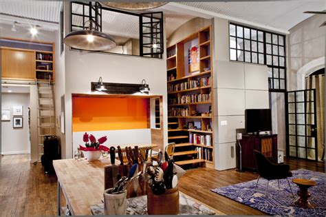 room lofts nyc loft contemporary living room new york by