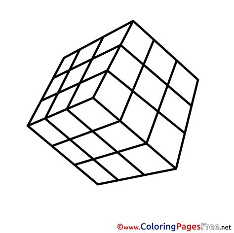 rubik s cube printable coloring pages for free