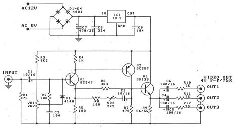 transistor bc547 circuit gt circuits gt lifier splitter by transistor bd137 bc547 bc557 l40940 next gr