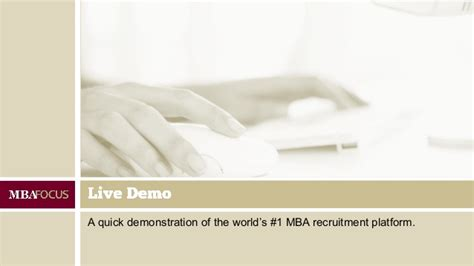 Usfsp Mba Focus Tracks by Best Practices For Mba Employers