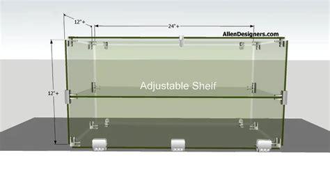 diy glass countertop display