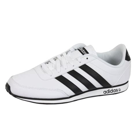 Adidas Neo V Leather White adidas trainers v racer neo mens white leather sneakers ebay