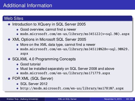 xml tutorial msdn xml on sql server