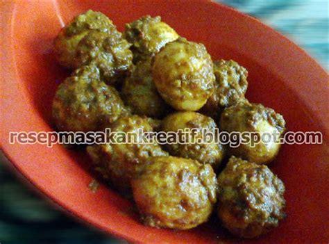 Garam Lekoh resep rendang telur rebus bumbu padang aneka resep