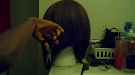 how to cut an angled bob haircut yourself how to cut this wig long short bob ponytail cutting