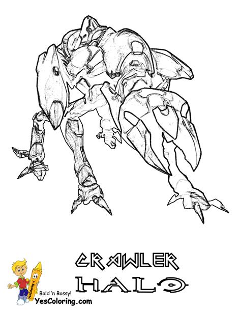 Halo 4 Coloring Pages by Free Coloring Pages Of Halo Cobenat