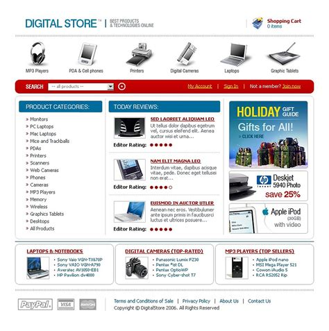 templates for electronics website electronics store website template web design templates