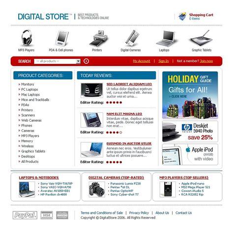 Electronics Store Website Template Web Design Templates Website Templates Download Electronics Website Templates