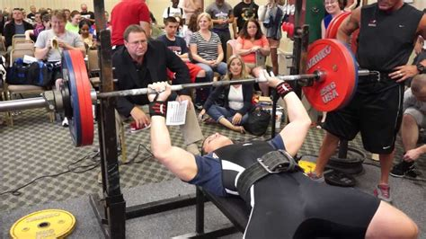 national bench press records nick apseloff 380lb bench press va state record youtube