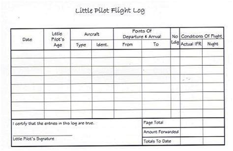 flight log template baby nebula pilot logbook hardcover