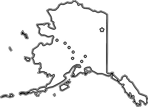 flag map of alaska coloring page wecoloringpage