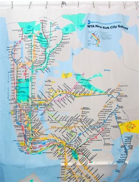 nyc subway shower curtain 10 geeky but awesome gifts for nyc public transit buffs
