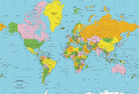 world political map with all countries world political map russian