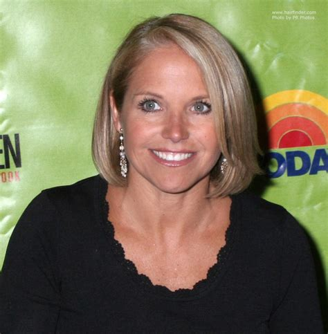 how to style katie couric hair katie couric wearing her hair in a blunt cut bob