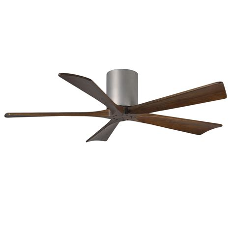 flush mount ceiling fan with remote shop matthews irene 52 in brushed nickel flush mount