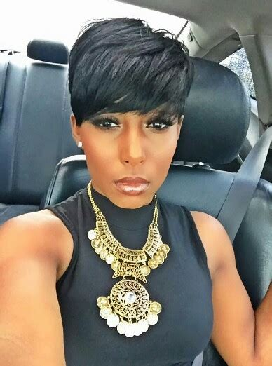 pixie cut black people the hair is cute but that necklace tho hair