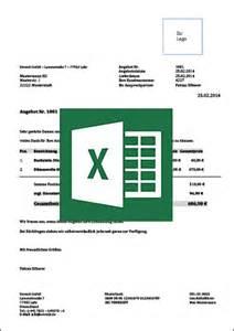 Angebot Vorlage Excel Muster Und Vorlagen F 252 R Angebote Mit Anleitung Kostenlos