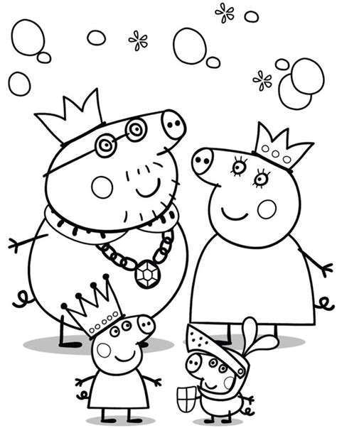 Peppa Pig Birthday Party Coloring Pages | peppa pig coloring pages and sheets