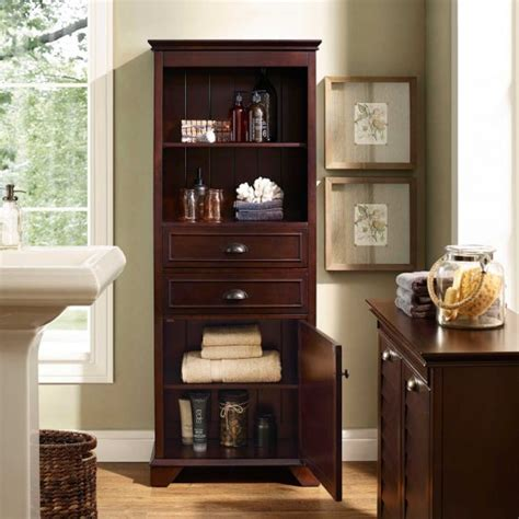tall wooden bathroom cabinets bathroom ideas brown plyywood veneered tall narrow