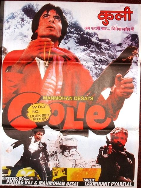 Coolie (1983) | Amitabh Bachchan Bollywood Posters | Pinterest