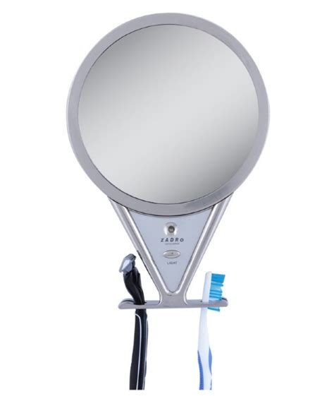 fogless shower mirror with light and magnification zadro z fogless adjustable fog free led lighted shower