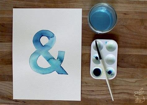 watercolor typography tutorial watercolor ersand watercolor tutorial how to paint