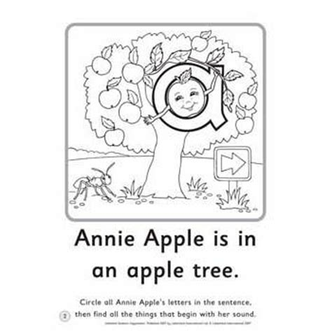 annie apple coloring page sentence copymasters etc educational technology