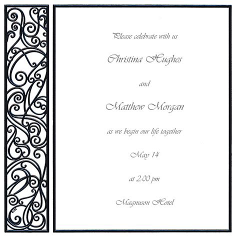 blank wedding invitations templates wblqual com