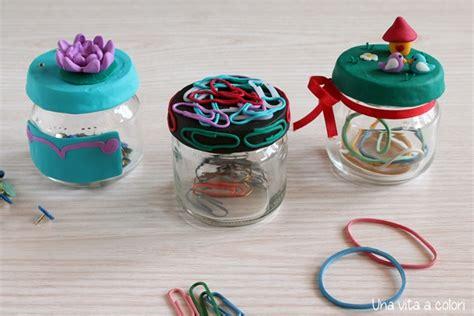 decorare i tappi dei barattoli barattoli di vetro decorati per organizzare gestione